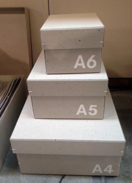Pappboxen von Raumgestalt