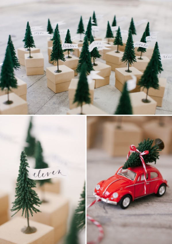 Oh Happy Day Mini Tree Advent Calendar with red Beetle