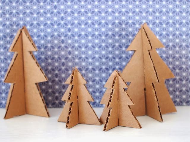 diy weihnachtsbaum aus karton cardboard christmas tree. Black Bedroom Furniture Sets. Home Design Ideas