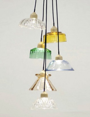 Jay Watson Just Desserts - reclaimed glas-lamp