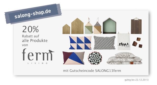 20% auf ferm LIVING Produkte bei salong-shop.de