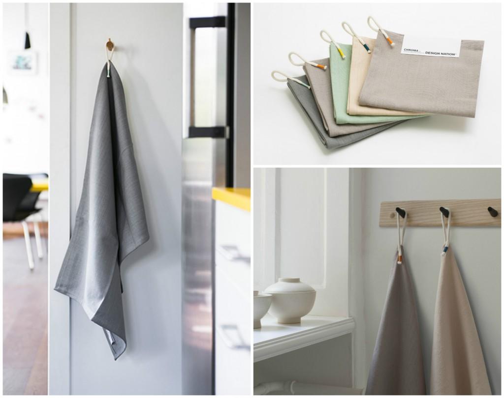Chroma Tea Towels Geschirrtücher aus Bio-Baumwolle von Design Nation